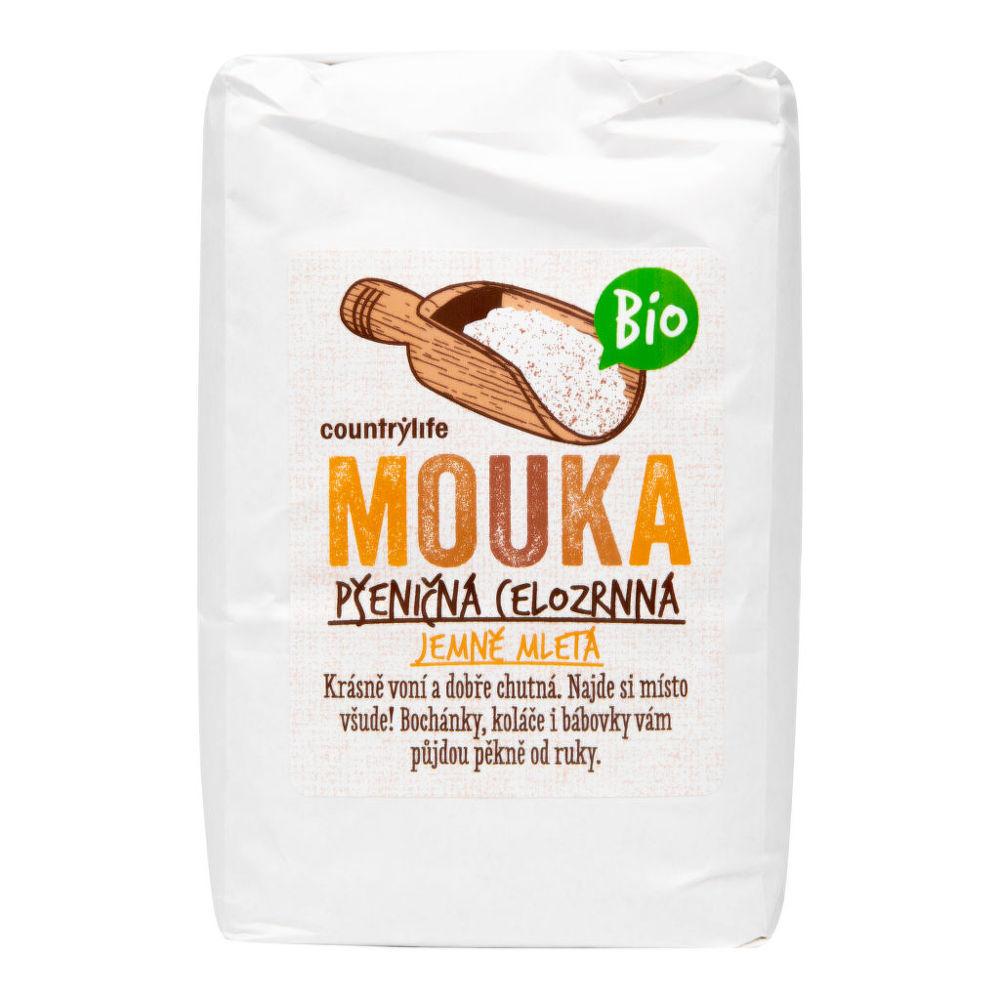 Mouka pšeničná celozrnná jemně mletá 1 kg BIO COUNTRY LIFE Bio, Veganské, Bez přidaného cuk