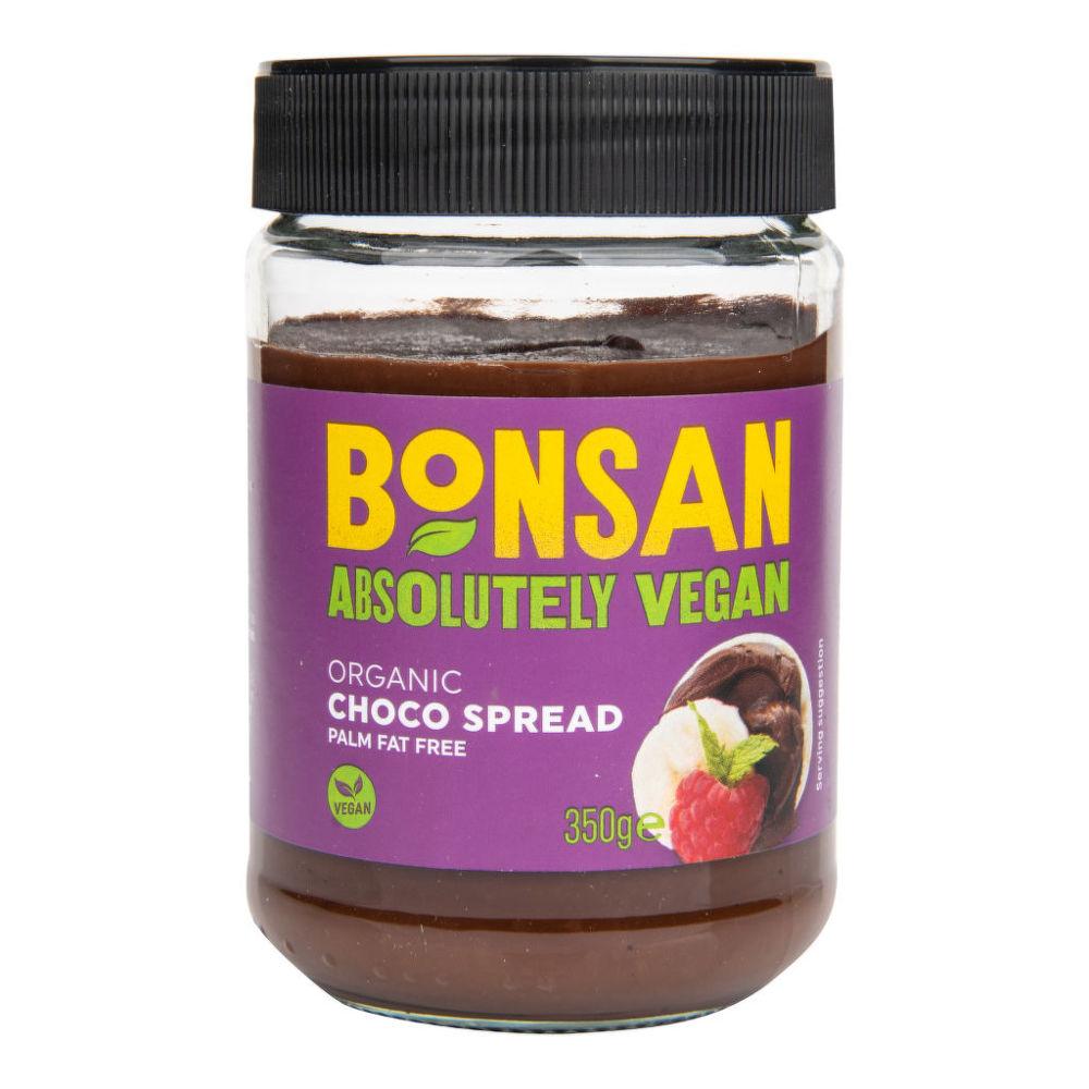 Pomazánka kakaová lískooříšková 350 g BIO BONSAN Bio, Veganské, Ze surovin bez lepku, Bez přidaného cukru, Bez mléka, Fair trade