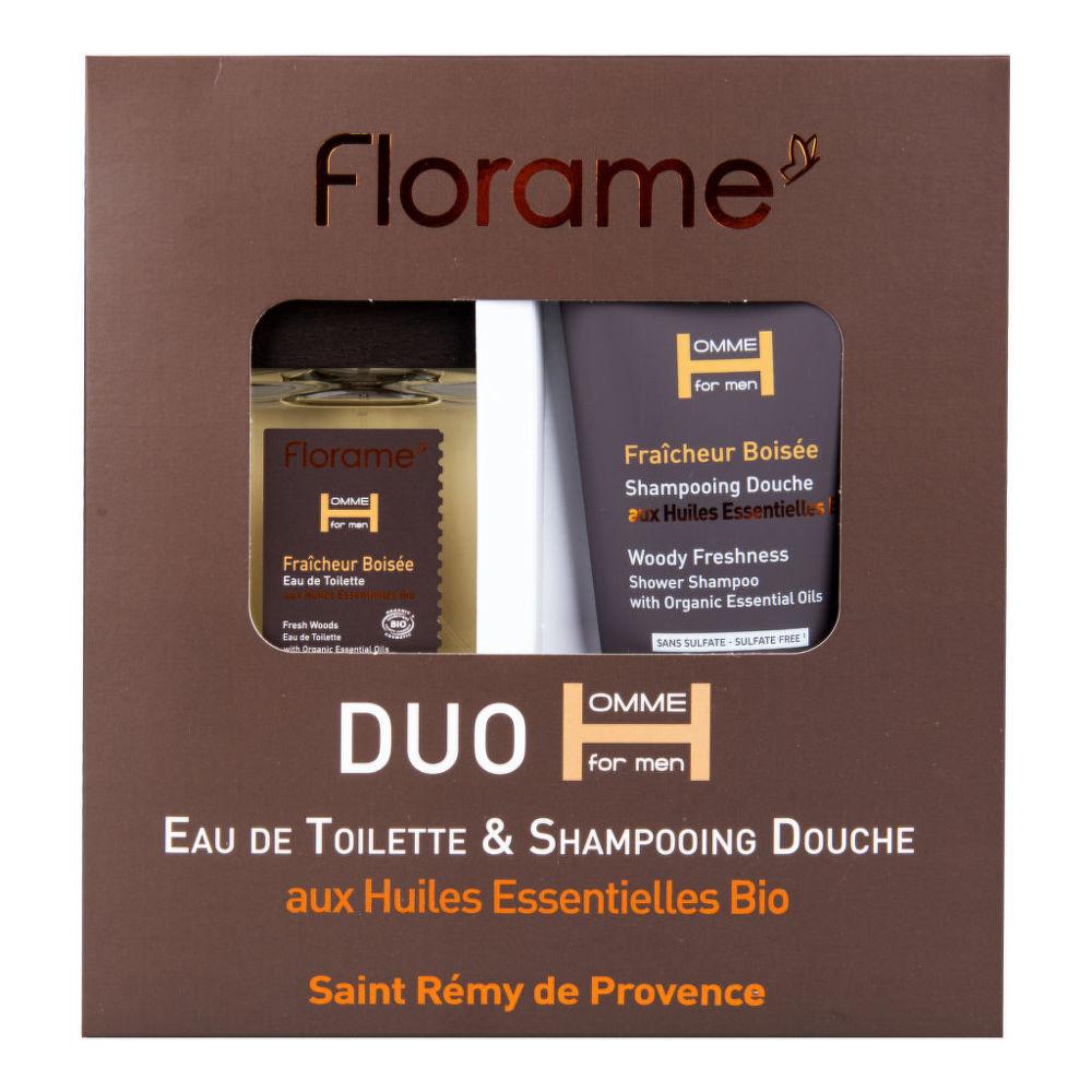 Sada dárková toaletní voda 100 ml a sprchový gel 200 ml Fraicheur boisée BIO FLORAME