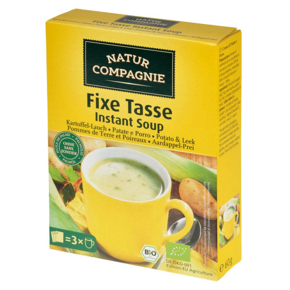 Polévka instantní bramborová  s pórkem 60g BIO   NATURCOMPAGNIE