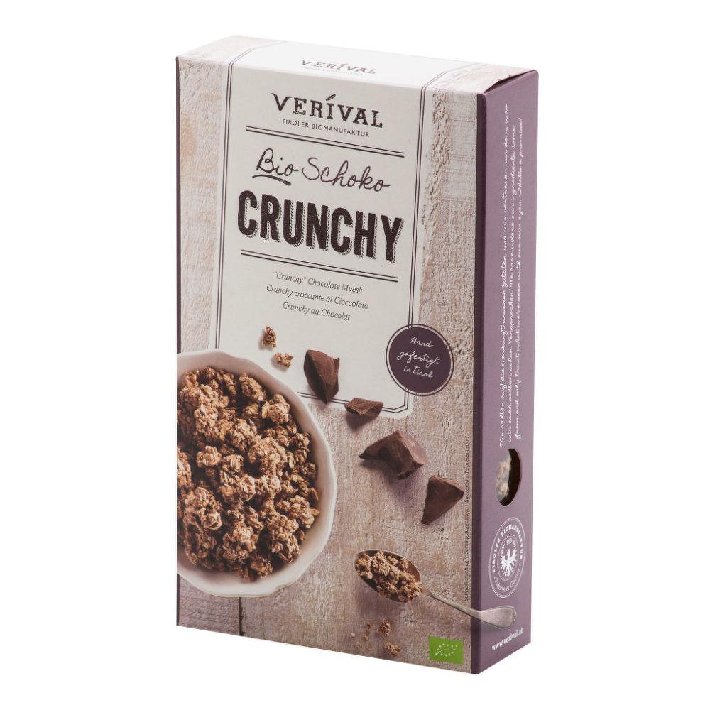 Granola - Křupavé müsli čokoládové 375g BIO   VERIVAL