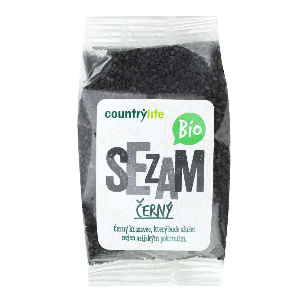 Sezam černý neloupaný 100 g BIO COUNTRY LIFE