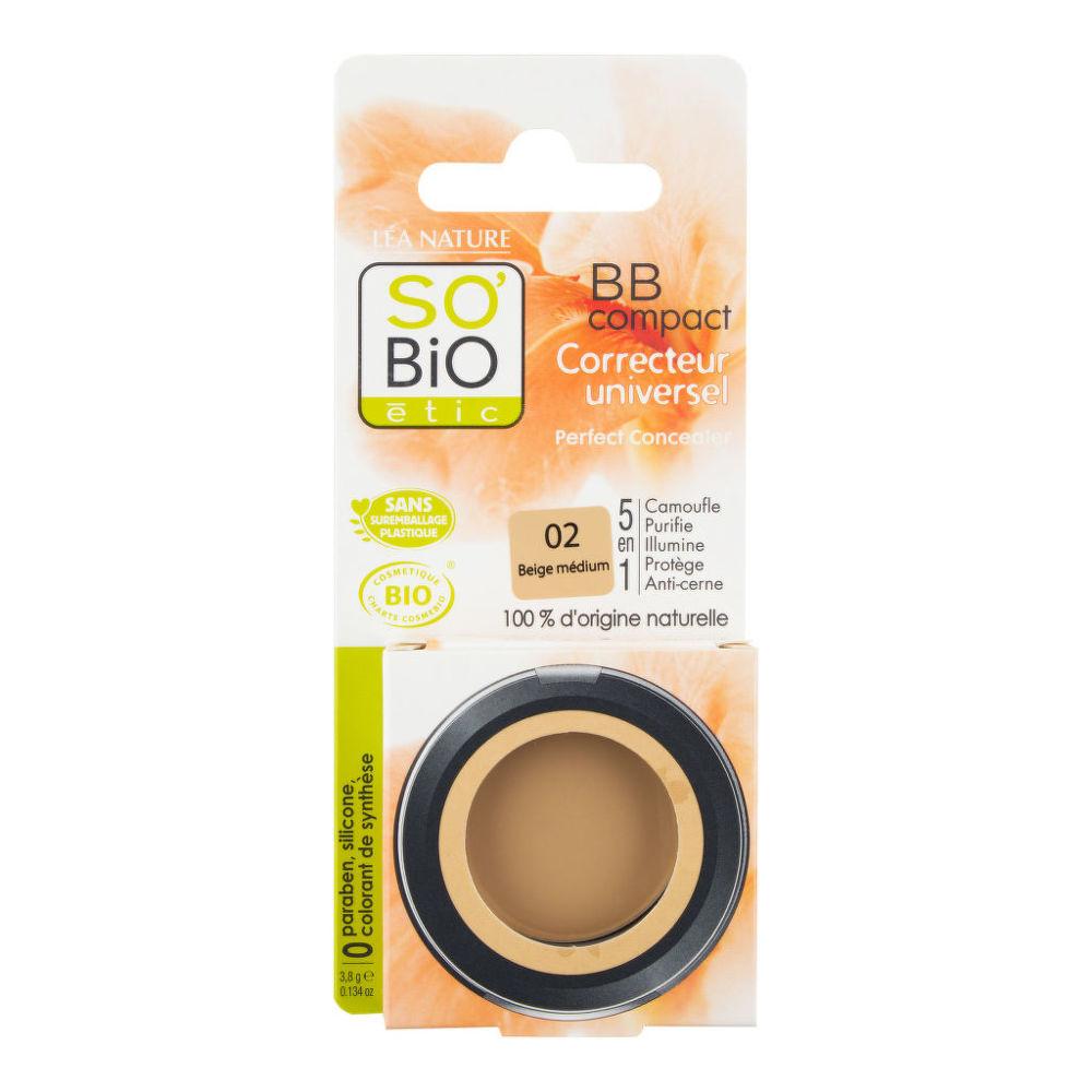 BB korektor 02 béžová střední 3,8 g BIO   SO´BIO étic