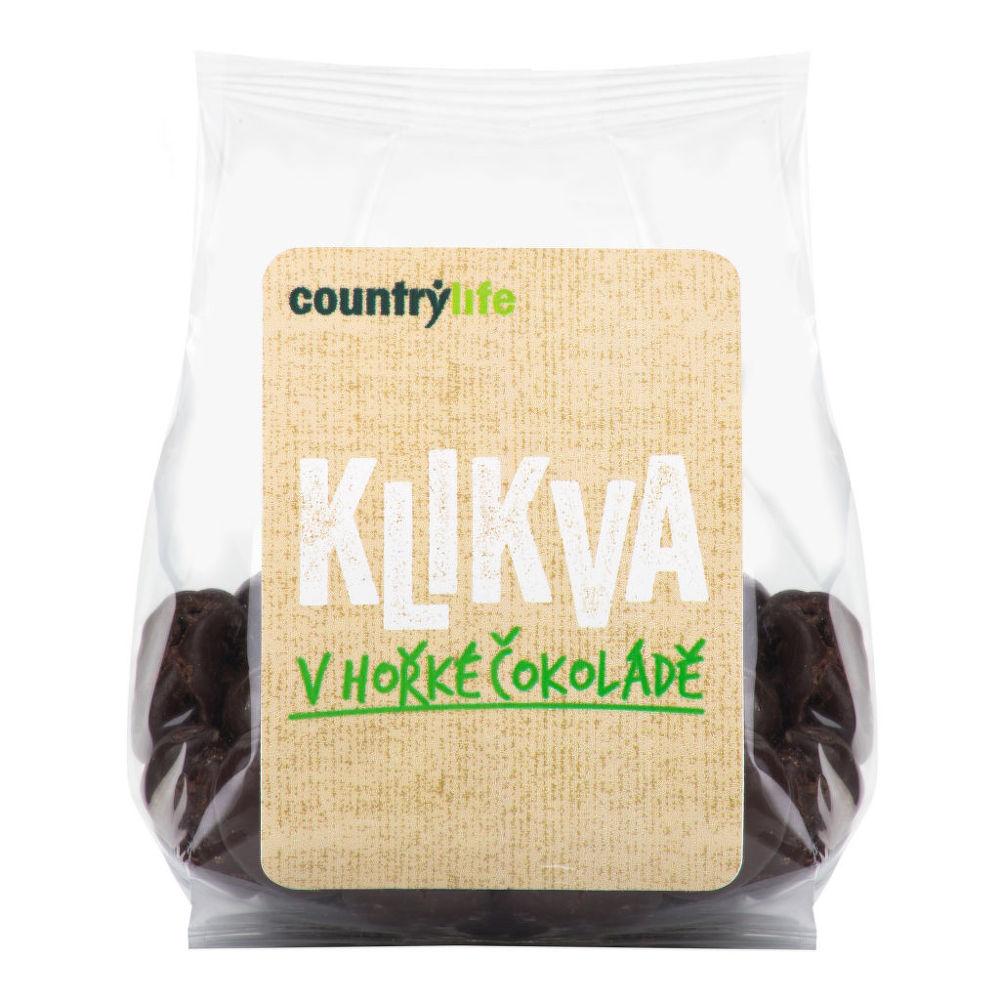 Klikva - kanadská brusinka v hořké čokoládě 100 g   COUNTRY LIFE