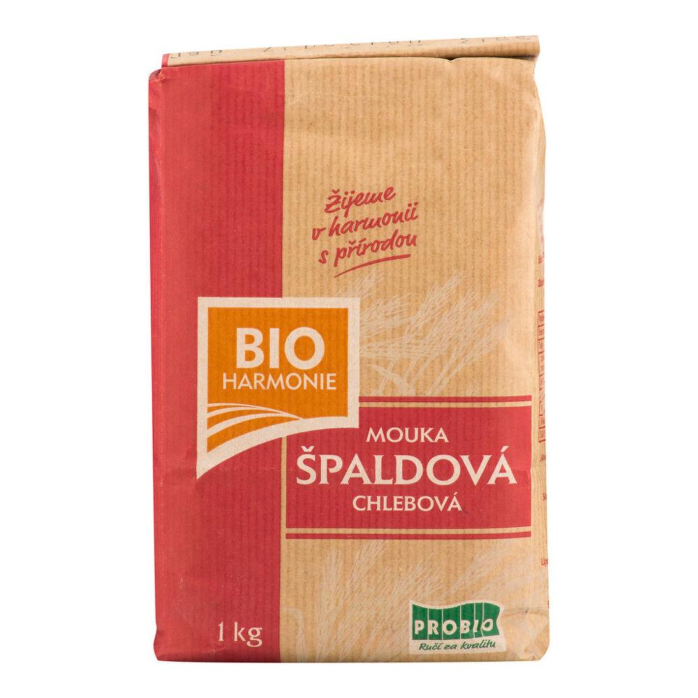 Mouka špaldová chlebová 1 kg BIO BIOHARMONIE Bio, Veganské, Bez přidaného cukru, Bez mléka, F