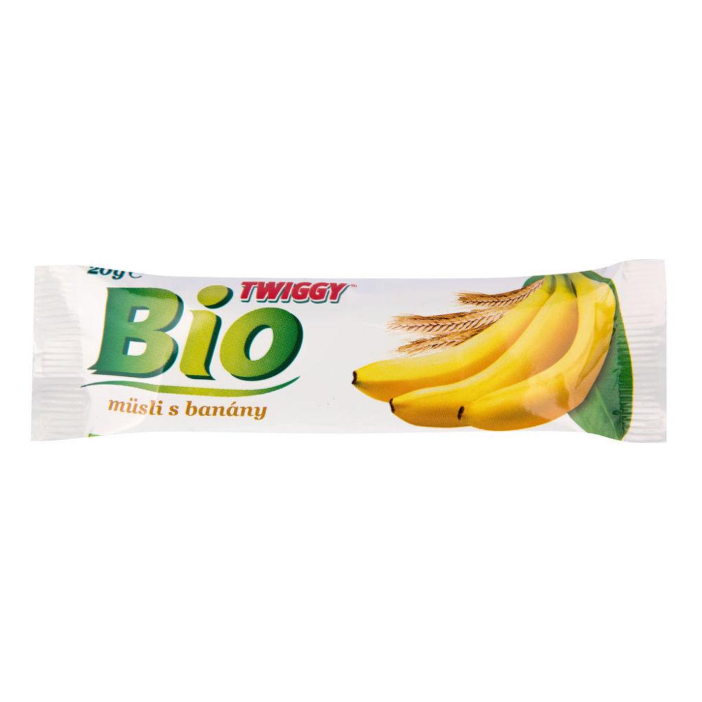 Tyčinka Twiggy müsli s banány 20g BIO   EKOFRUKT