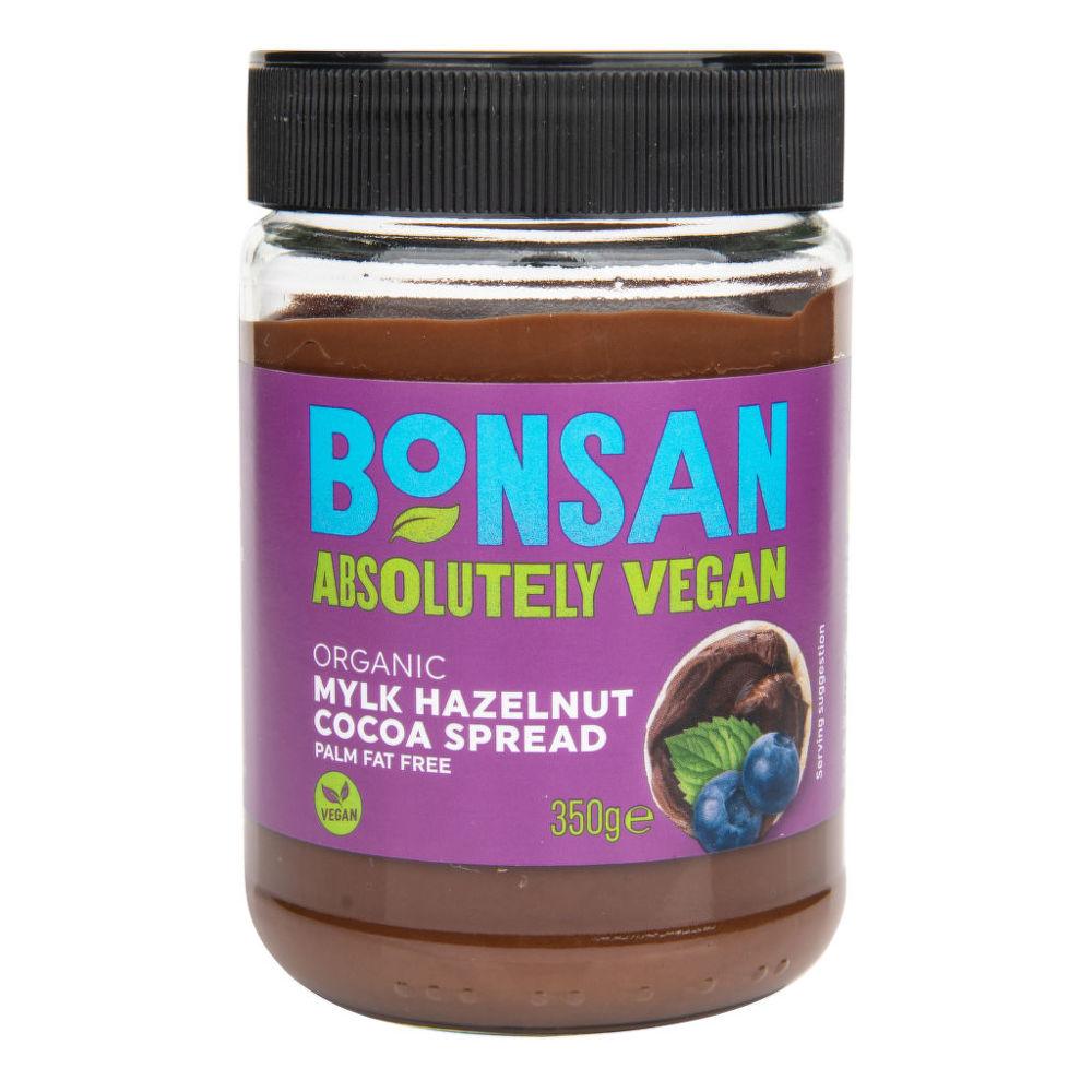 Pomazánka čokoládová 350 g BIO BONSAN Bio, Veganské, Ze surovin bez lepku, Bez přidaného cukru, Bez mléka, Fair trade