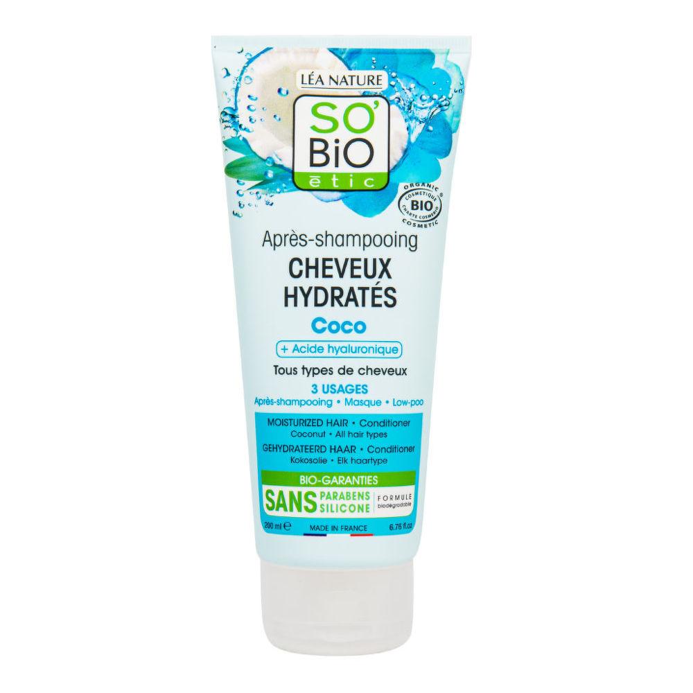 Kondicionér hydratační kokos a kyselina hyaluronová 200 ml BIO SO'BIO étic