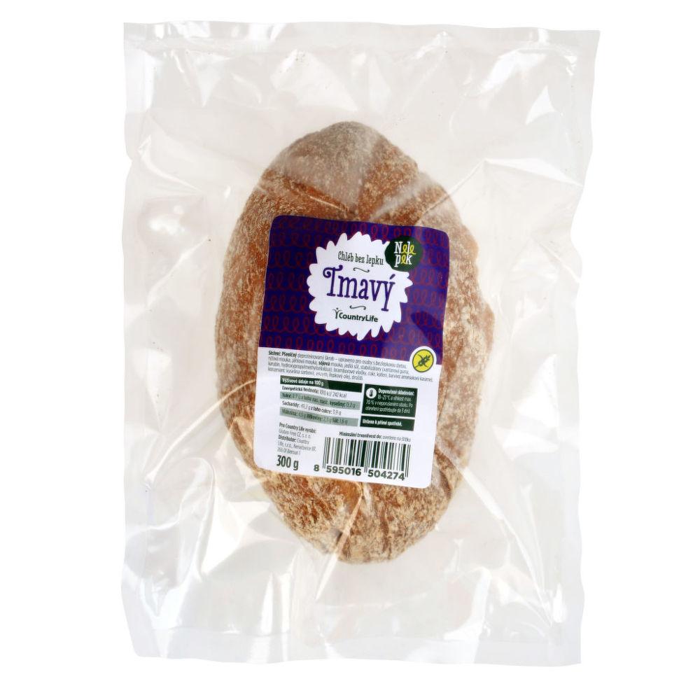 Chléb tmavý bez lepku 300g   NELEPEK VO