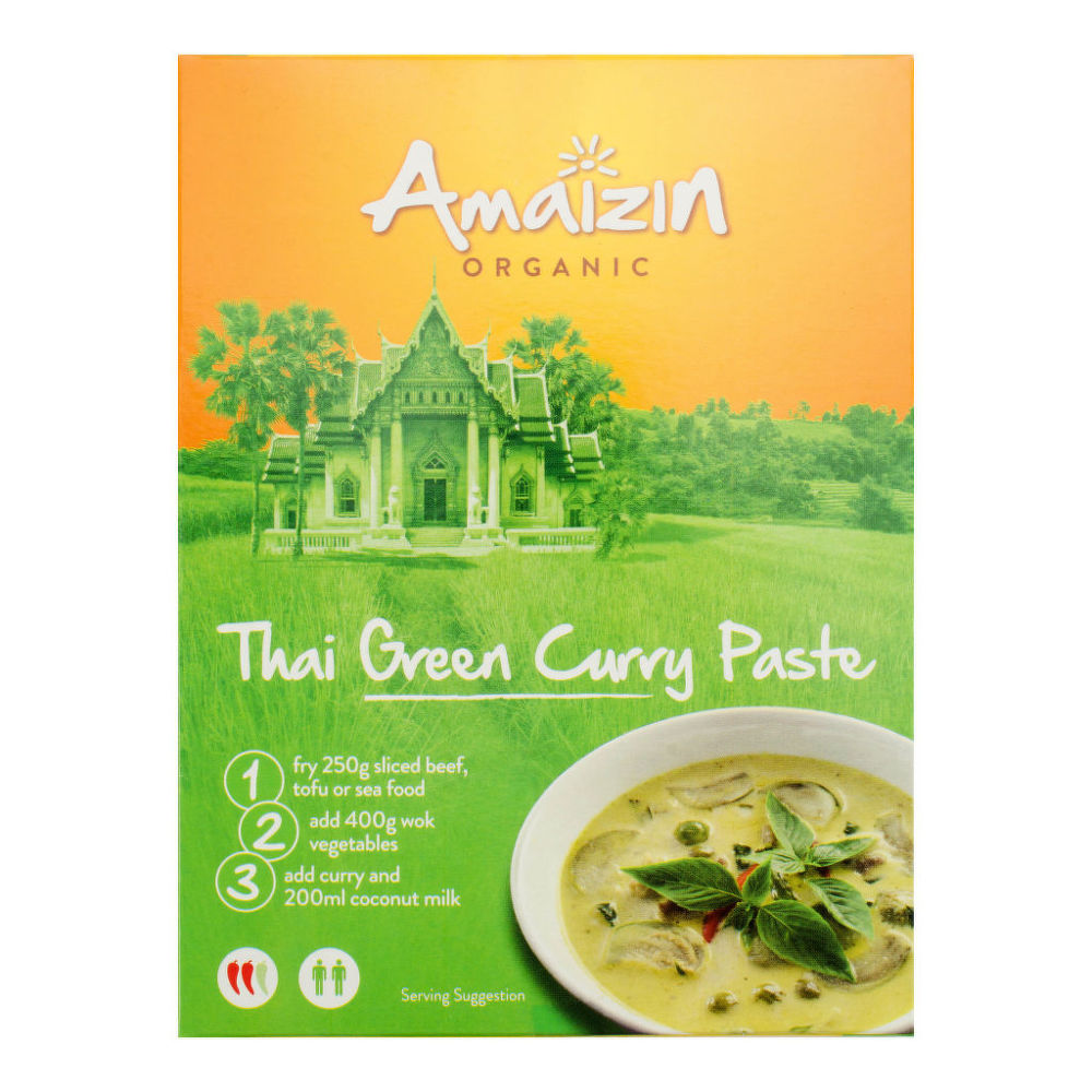 Pasta - thajské zelené kari 80 g BIO AMAIZIN