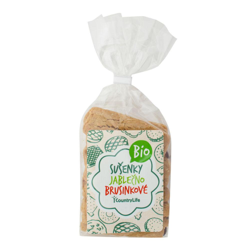 Sušenky s jablečným sirupem a klikvou 175 g BIO   COUNTRY LIFE