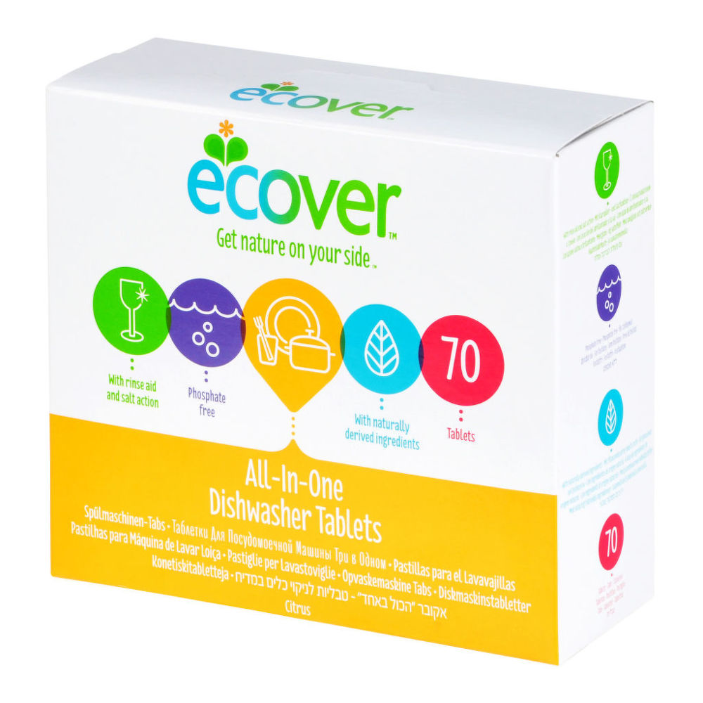 ECOVER tablety do myčky 70 ks All in One 1,4 kg