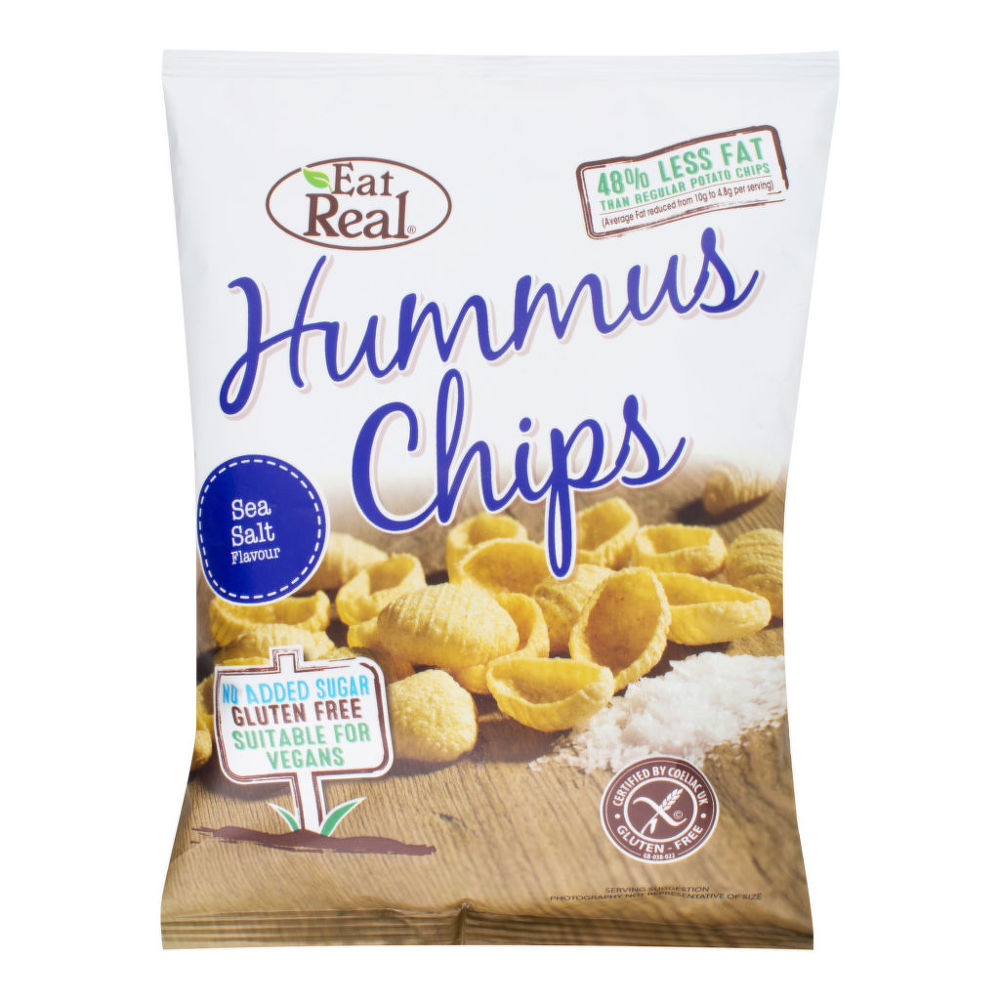Chipsy cizrnové s příchutí mořské soli 45 g   EATREAL
