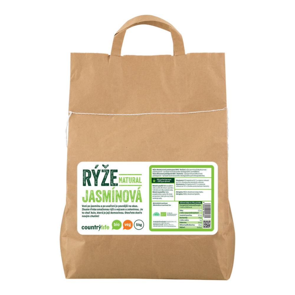 Rýže jasmínová natural 5 kg BIO COUNTRY LIFE