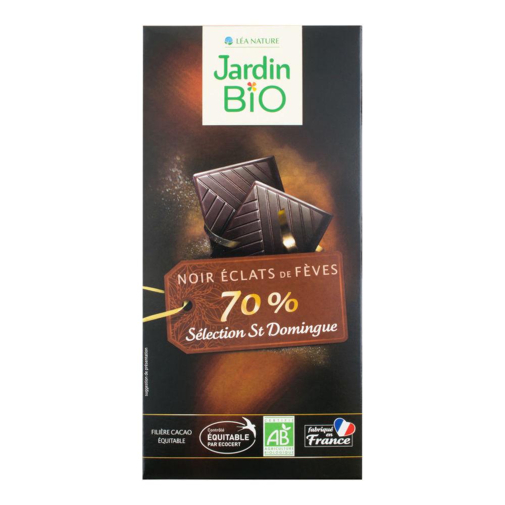 Čokoláda hořká skousky kakaových bobů 100 g BIO   JARDIN BIO