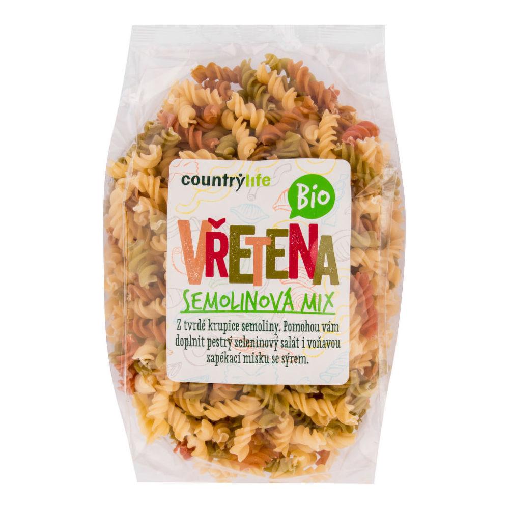 Těstoviny vřetena semolinová mix 400 g BIO COUNTRY LIFE