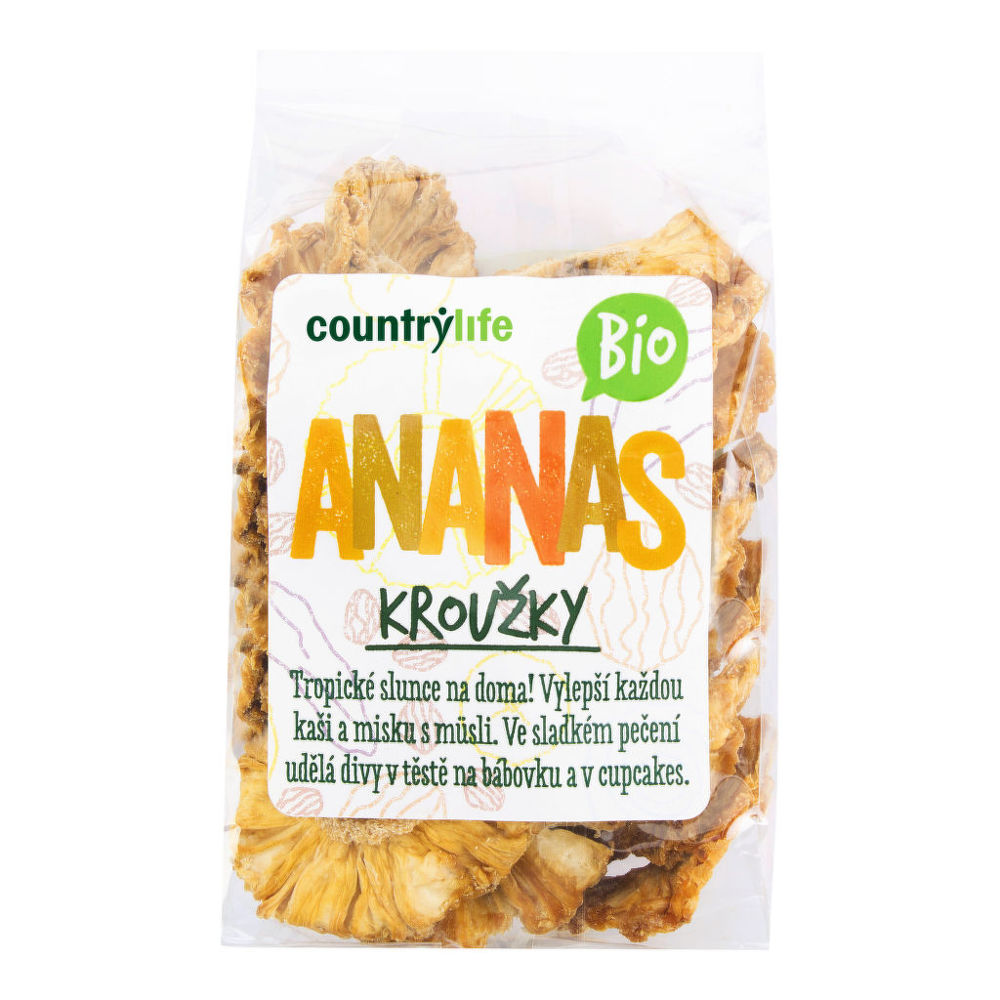 Ananas kroužky sušené 100 g BIO COUNTRY LIFE