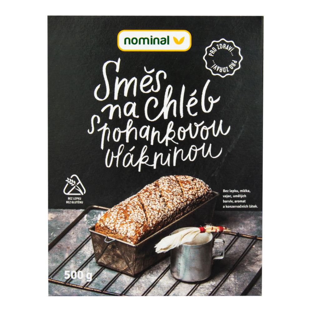 Směs na chléb s pohankovou vlákninou bezlepkový 500 g NOMINAL