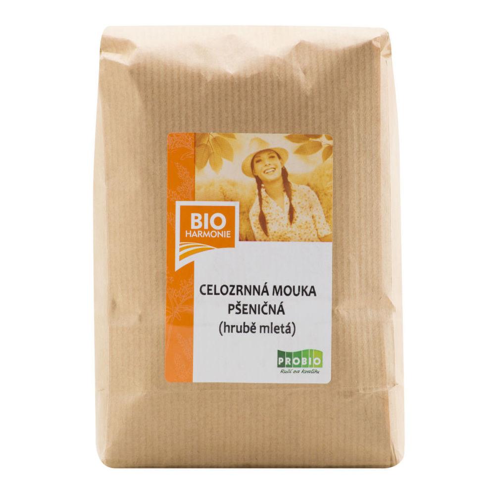 Mouka pšeničná celozrnná hrubě mletá 1kg BIO   BIOHARMONIE