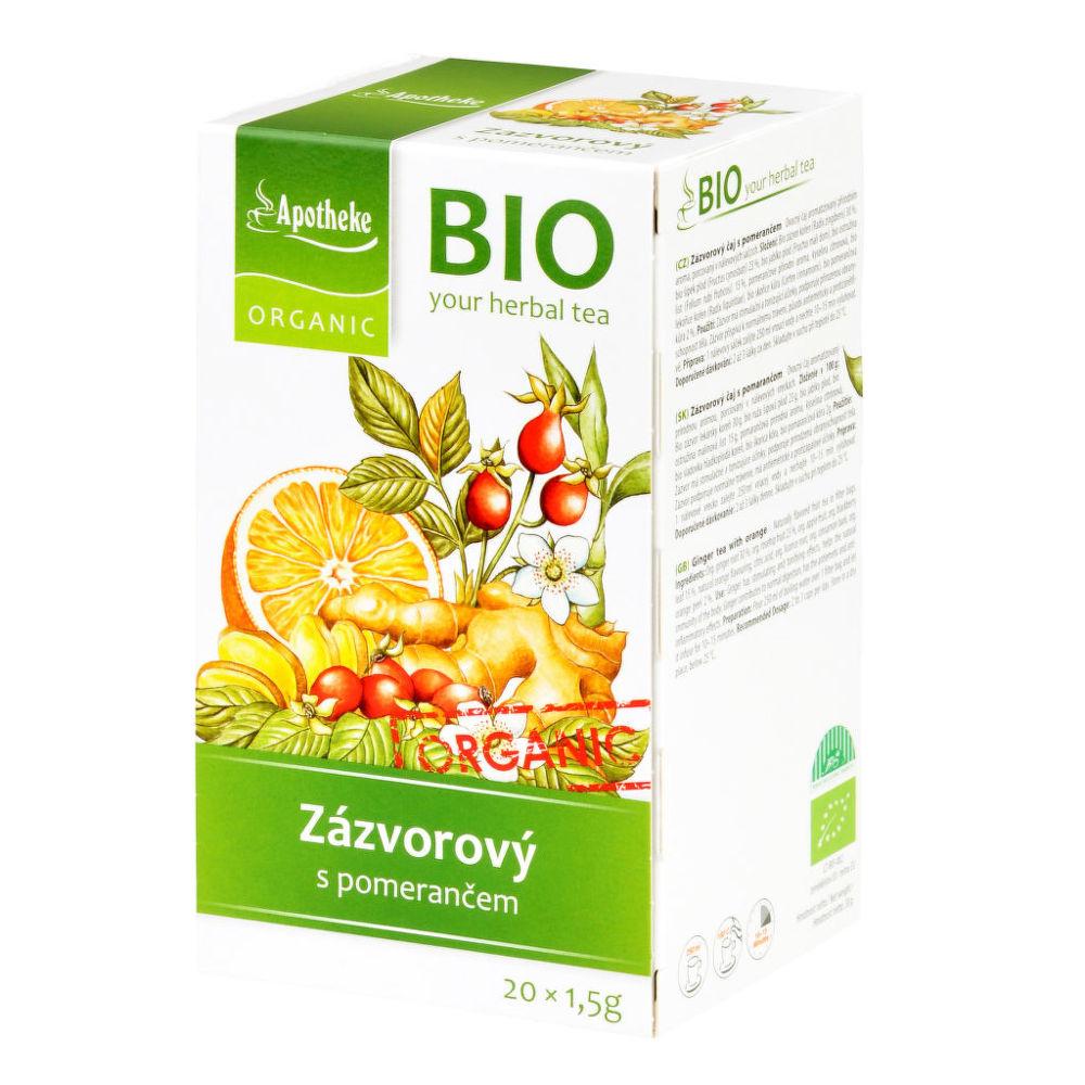 Čaj Zázvorový s pomerančem 30 g BIO MEDIATE