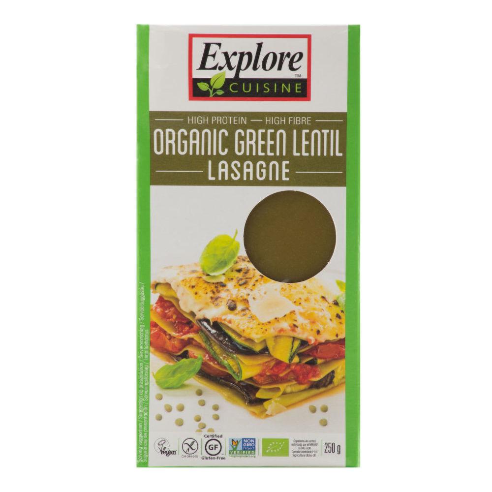 Lasagne ze zelené čočky bezlepkové 250g BIO   EXPLORECUISINE