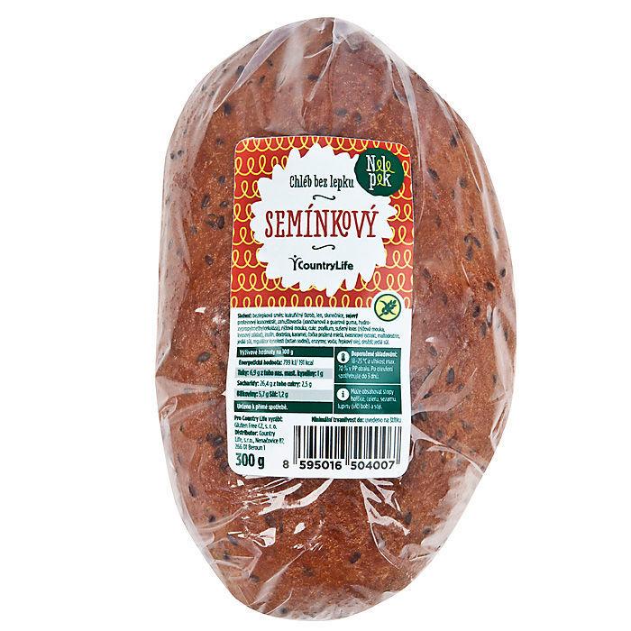 Chléb se semínky bez lepku 300g   NELEPEK   VO