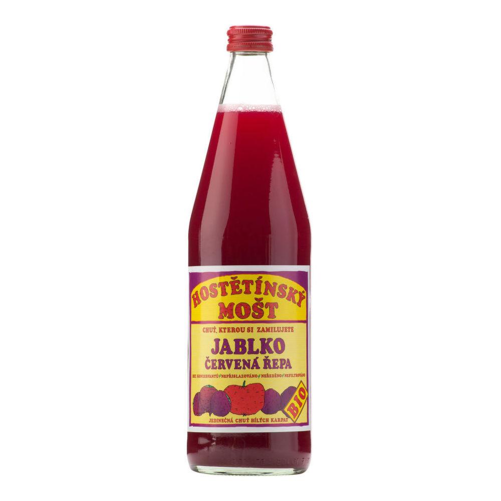 Mošt jablečný s červenou řepou 750 ml BIO MOŠTÁRNA HOSTĚTÍN