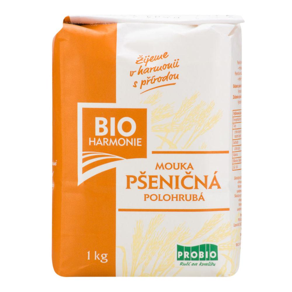 Mouka pšeničná polohrubá 1 kg BIO BIOHARMONIE