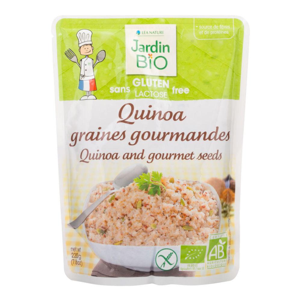 Hotový pokrm bezlepkový - quinoa s olejnatými semeny  220g BIO   JARDINBIO