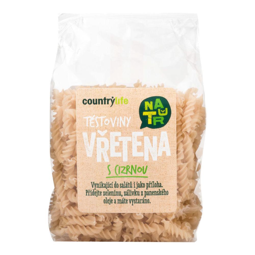Těstoviny vřetena s cizrnou 300 g COUNTRY LIFE
