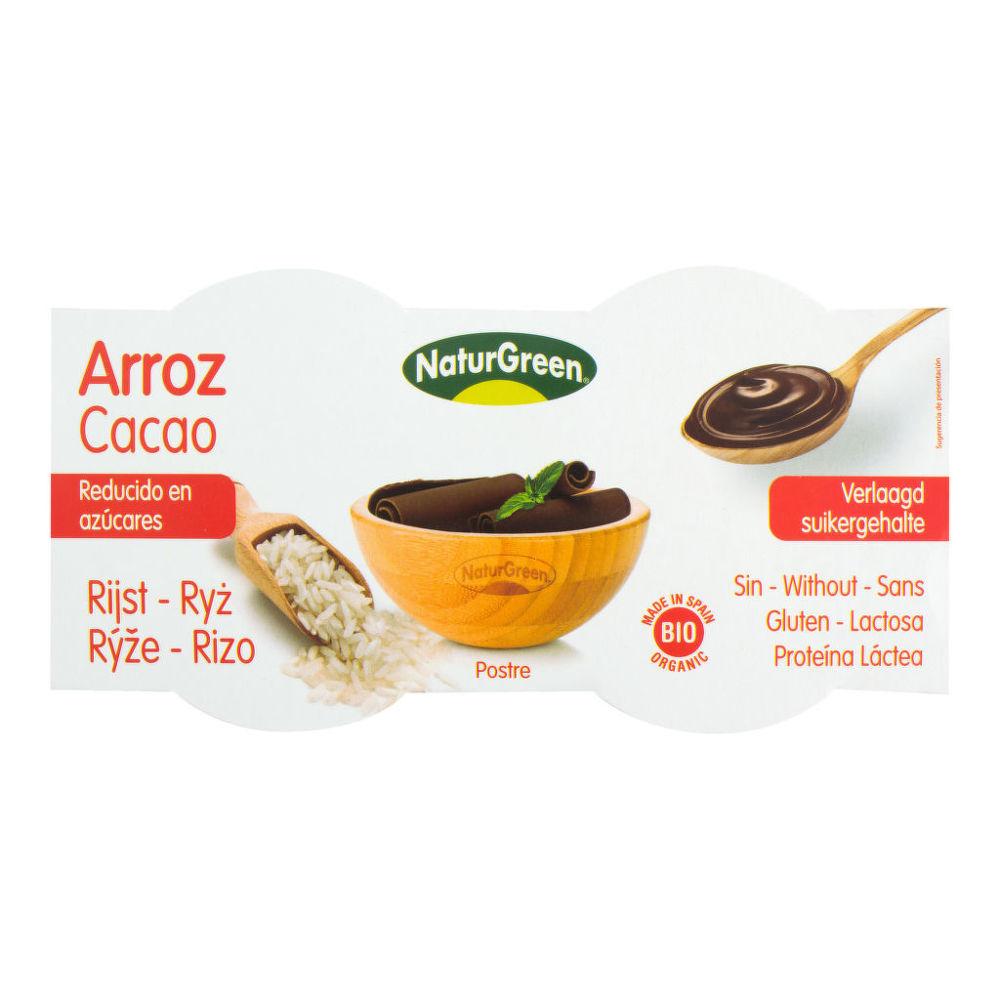 Dezert rýžový s kakaem 2x125g BIO   NATURGREEN