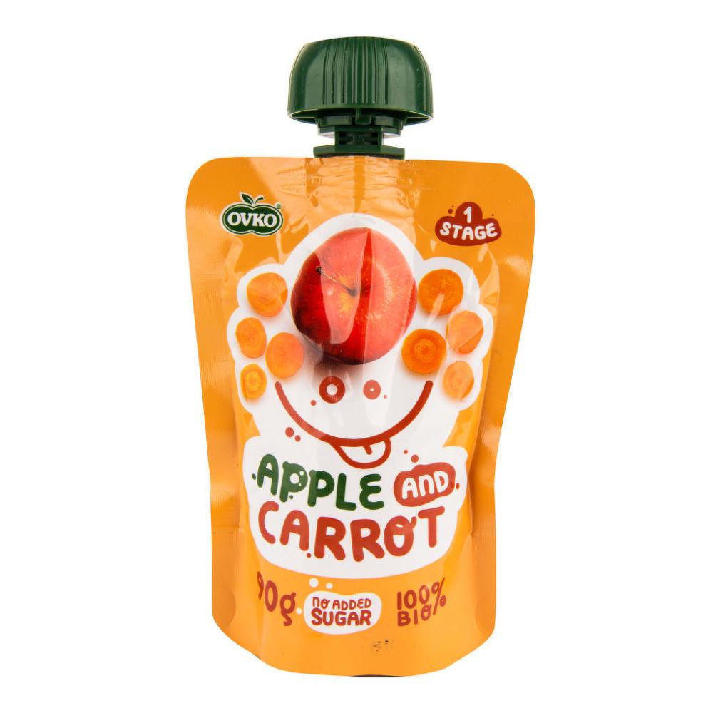 Příkrm jablko, mrkev 90 g BIO OVKO