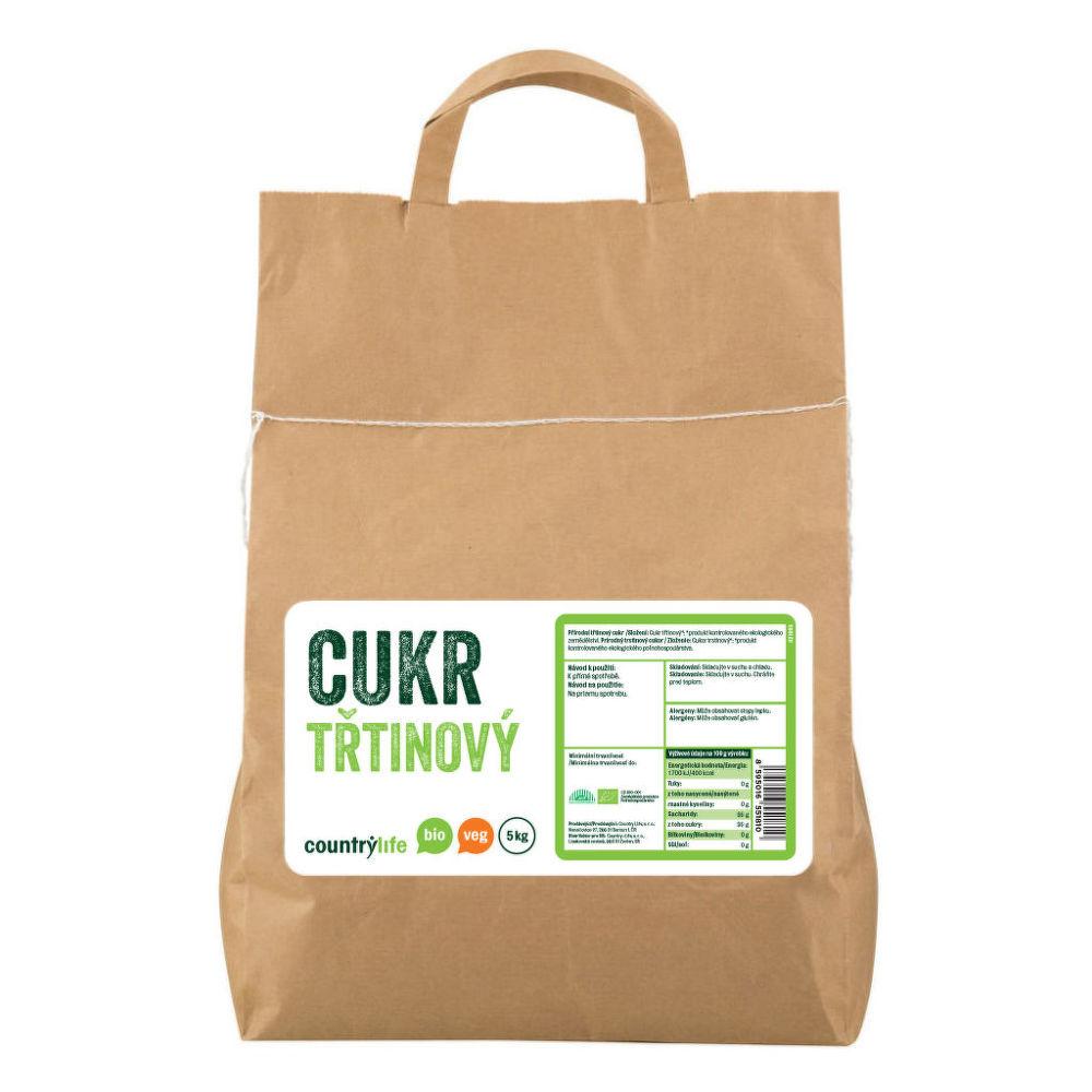 Cukr třtinový 5 kg BIO COUNTRY LIFE
