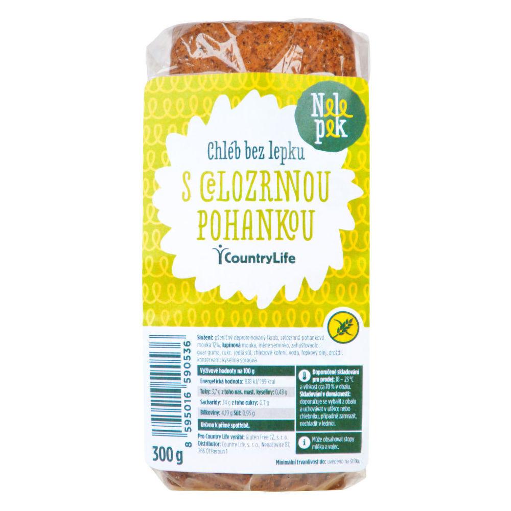 Chléb s pohankou bez lepku 300g NELEPEK Bio, Veganské, Bez lepku, Ze surovin bez lepku, Bez mléka