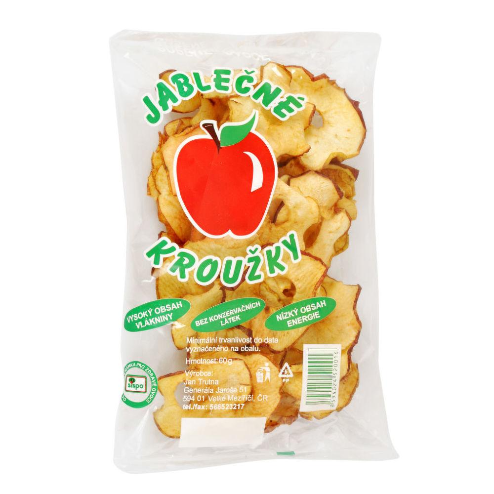 Jablečné kroužky sušené 60g   B.PRODUKT