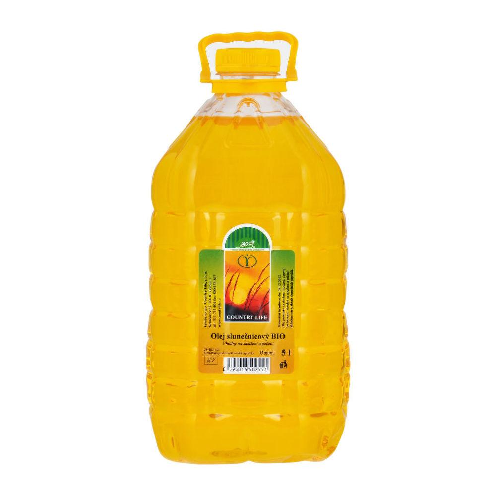 Olej slunečnicový na smažení a pečení 5 l BIO COUNTRY LIFE