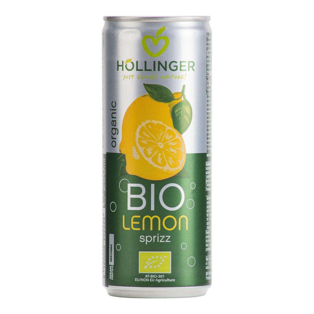 Limonáda citron plech 250 ml BIO   HOLLINGER