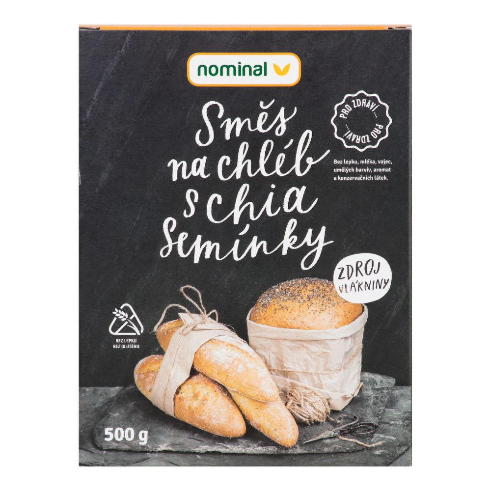 Směs na chléb s chia semínky bezlepková 500g   NOMINAL