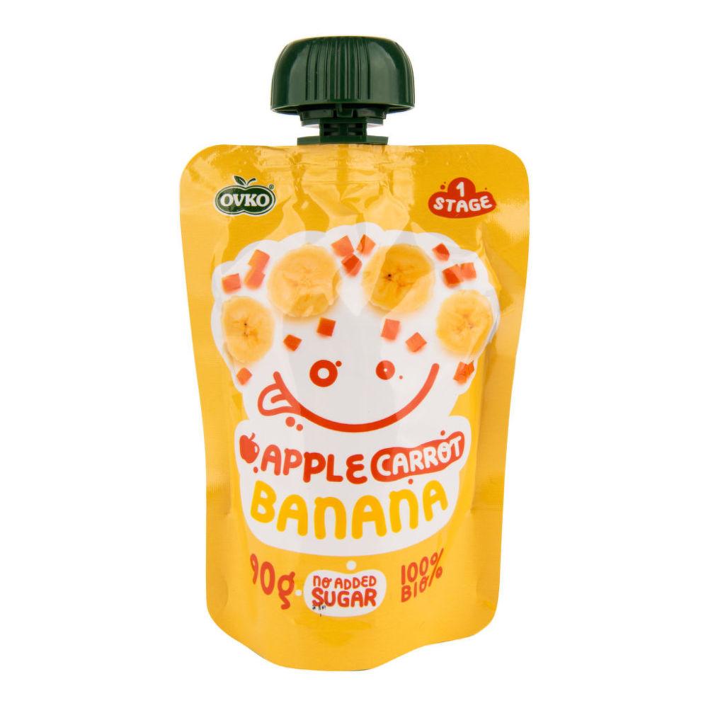 OVKO BIO Příkrm jablko, mrkev, banán 90 g