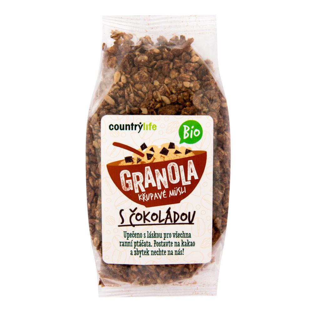 Granola - Křupavé müsli s čokoládou 350 g BIO COUNTRY LIFE