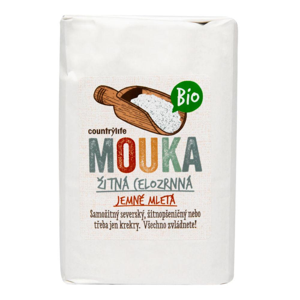 Mouka žitná celozrnná jemně mletá 1 kg BIO COUNTRY LIFE Bio, Veganské, Bez přidaného cukru,