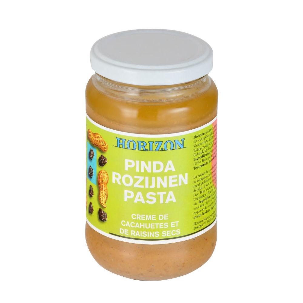 Krém arašídový s rozinkami 350g BIO   HORIZON