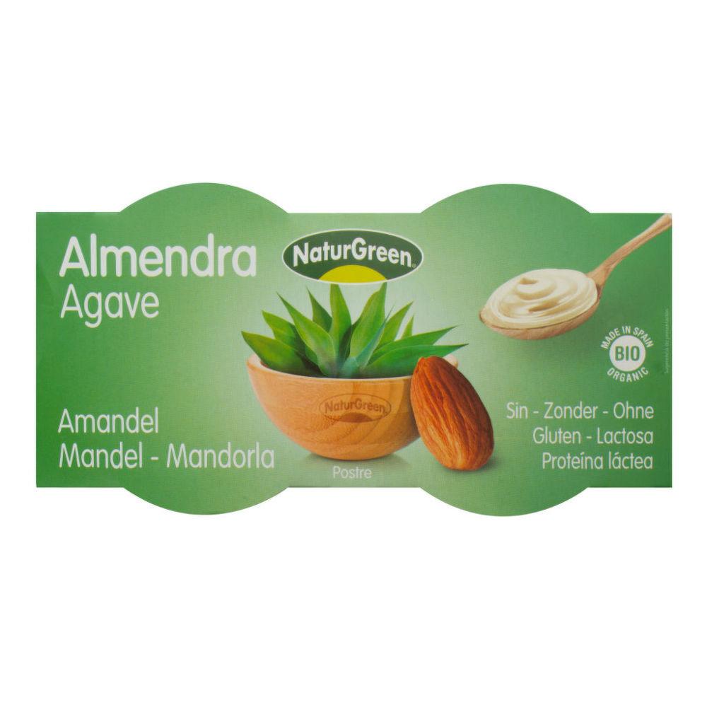 Dezert mandlový s agávovým sirupem 2x125g BIO   NATURGREEN