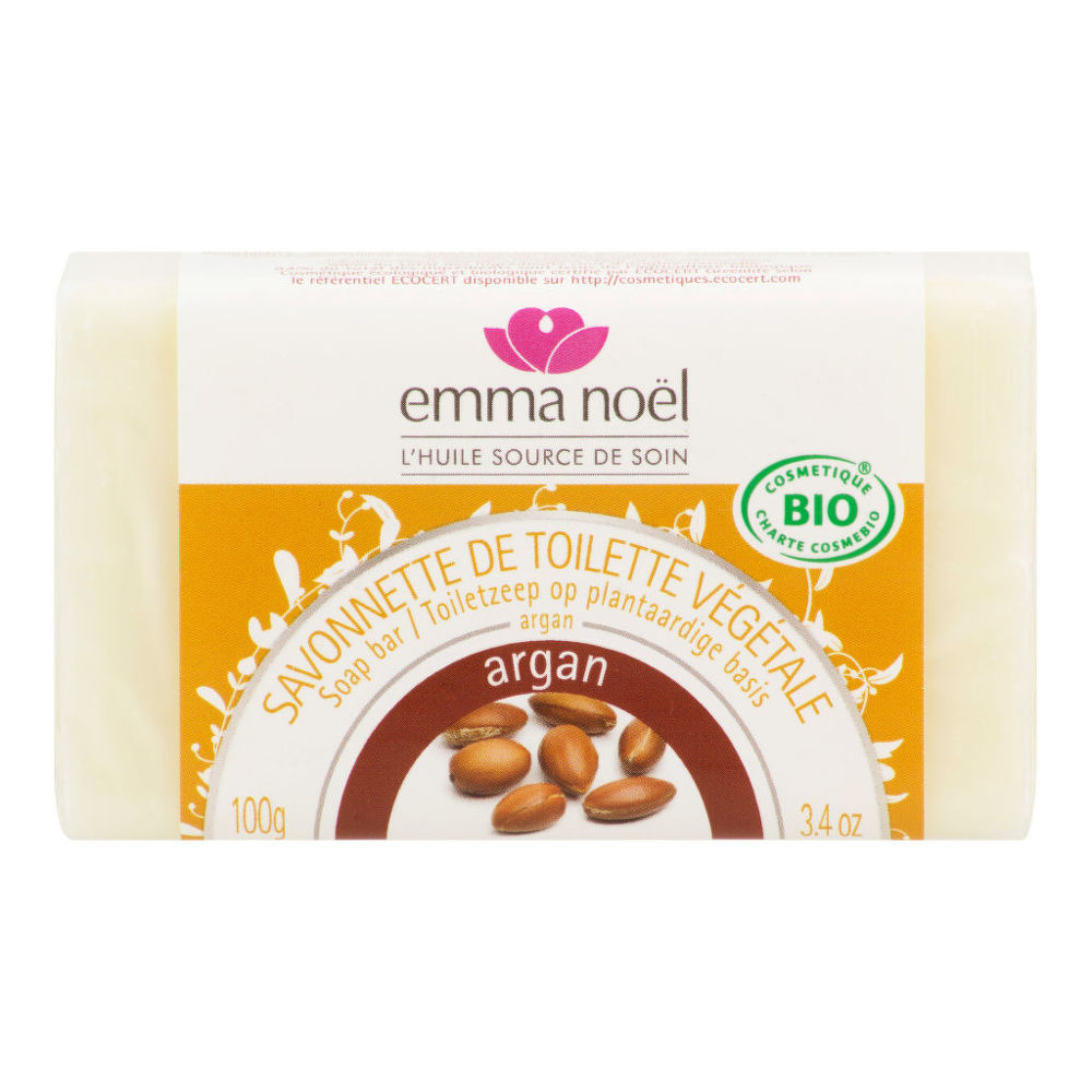 Mýdlo rostlinné argan 100 g BIO   EMMA NOËL