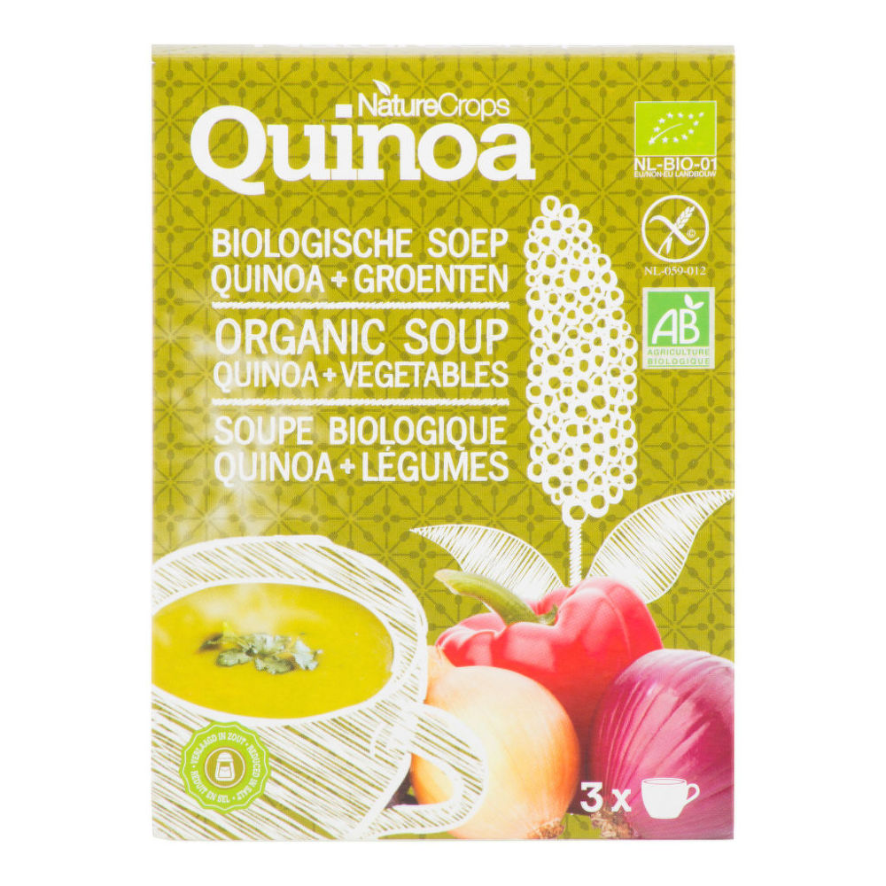 Polévka quinoová se zeleninou bezlepková 36g BIO   NATURECROPS