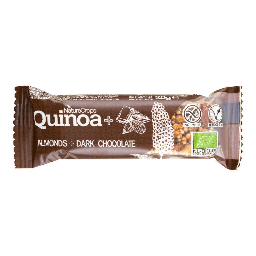 Tyčinka quinoová s mandlemi a hořkou čokoládou bezlepková 25 g BIO