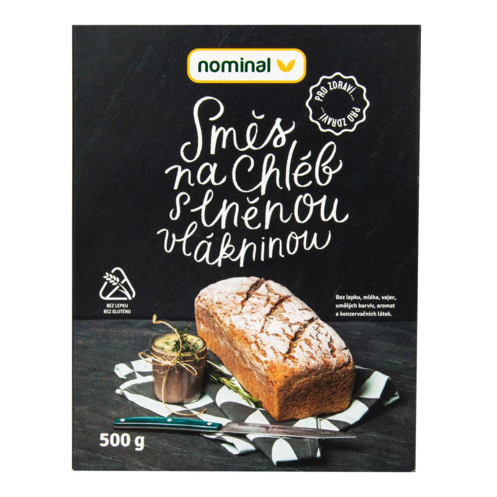 Směs na chléb s lněnou vlákninou bezlepkový 500 g NOMINAL