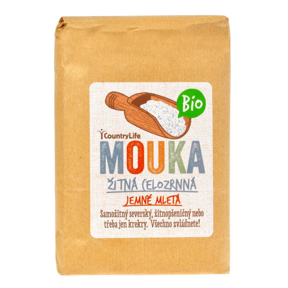 Mouka žitná celozrnná jemně mletá 1 kg BIO COUNTRY LIFE
