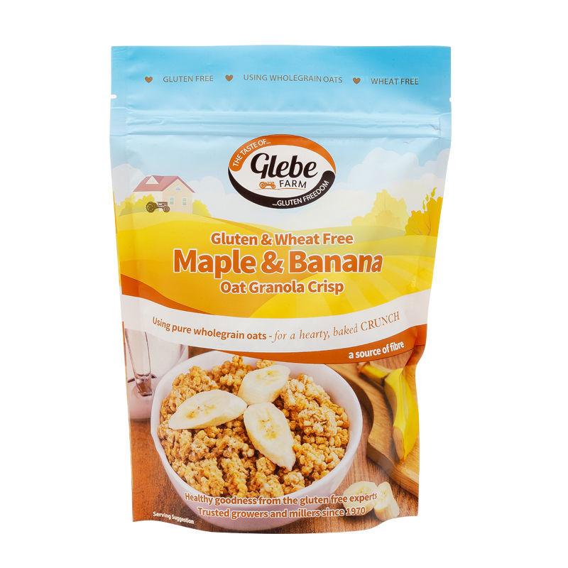 Granola - Křupavé müsli s banány a javorovou příchutí bezlepkové 325g   GLEBEFARM