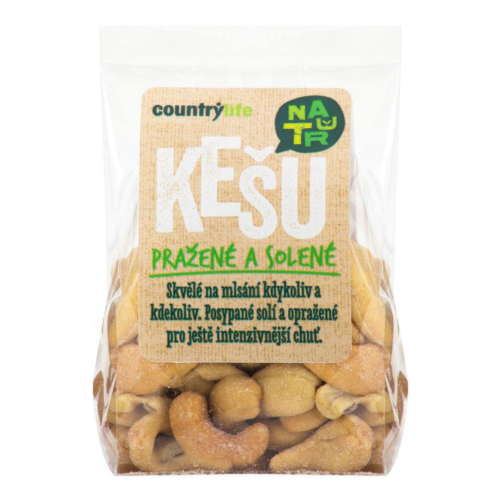 Kešu ořechy pražené solené 100g   COUNTRYLIFE